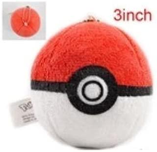 Pokemon Pokeball Toy 3 Keychain Plush