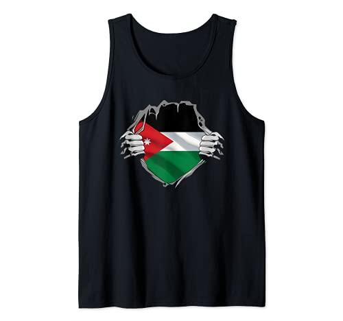 Jordania Patrimonio Jordania Raíces Jordania Bandera Patri Camiseta sin Mangas