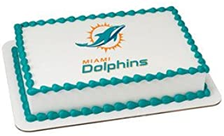 Miami Dolphins Licensed Edible Cake Topper #35398