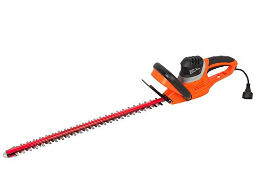 GARCARE 4.6-Amp Corded Hedge Trimmer with 24-Inch...