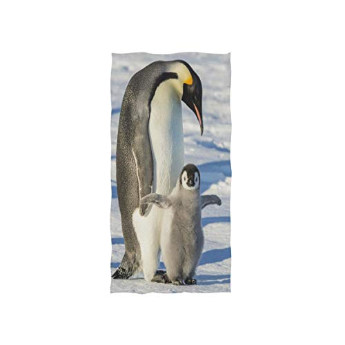 Mnsruu Pinguin Winter Weiches Bad Hotel Spa Hand Gym Sport Handtuch 76 x 38 cm (30 x 15 Zoll)