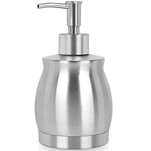 Robber Edelstahl Seifen Seifenspender,390 Ml Flüssigseifen-Spender Spülmittelspender, für Bad, Küche, Flüssigseifen-Spender