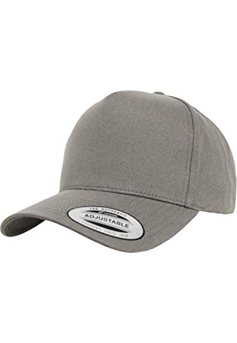 Flexfit 5-Panel Curved Classic Snapback Kappe, Mehrfarbig, One Size