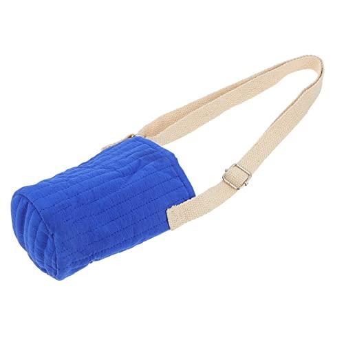 Amosfun Borsa per l'acqua in tela, borsa per il trasporto: bottiglia d'acqua isolata con tracolla, per bere, per escursioni, viaggi, campeggio, blu