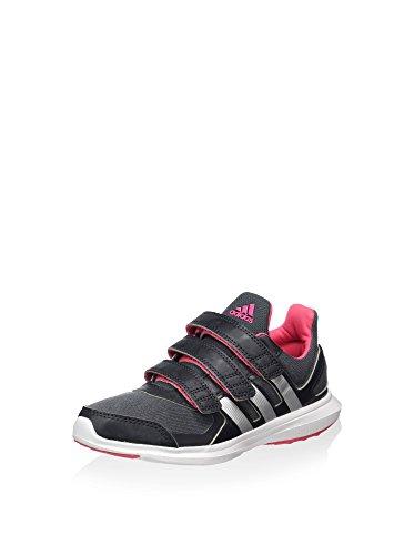 adidas Jungen Sneaker, Grau/Rosa/Weiß, 30 EU