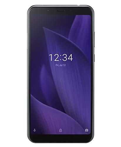 Sharp Aquos V Duals SIM Smartphone, FHD+ LTPS Bildschirm, 15 cm (5.9 Zoll), 64 GB interner Speicher, 4GB RAM, Android 9.0, 3160 mAh, 13 MP Hauptkamera, Gesichtsentsperrung, Fingerabdrucksensor – schwarz