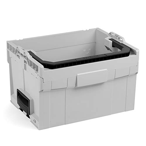 Bosch Sortimo LT-BOXX 272 in grau   Werkzeugaufbewahrung System   Werkzeugkoffer groß leer   Ideale Werkzeubox offen