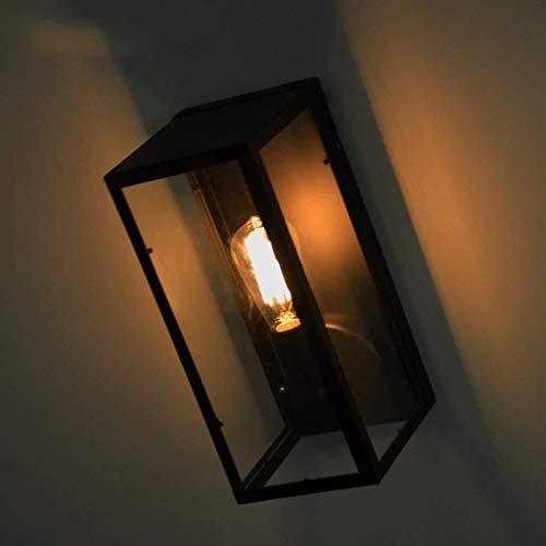 HYY-YY American Village pared retro caja de cristal de la lámpara de pared, lámpara ático del hotel de la lámpara de la lámpara de la sala restaurante Lámparas de luz Lámparas Lámparas Lámparas de lec
