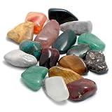 20 Edelsteine (trommelpoliert) - Natursteine 2-3cm - bunte Mischung - u.a Bergkristall & Sodalith - von...
