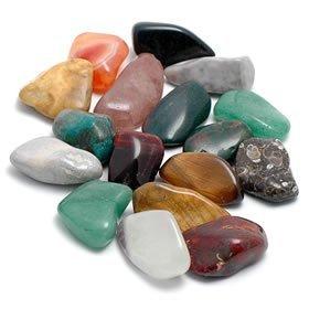 20 Edelsteine (trommelpoliert) - Natursteine 2-3cm - bunte Mischung - u.a Bergkristall & Sodalith - von AMAHOFF