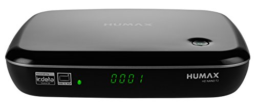 Humax HD NANO T2 HD-Receiver (DVB-T2/T, HbbTV, PVR-Ready, freenet TV, HDMI, USB) Schwarz