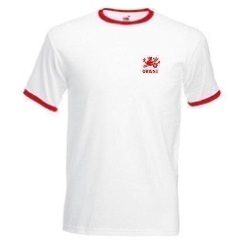 Leyton Orient Style rétro FC Football Team T-Shirt pour adulte-Blanc-Taille M