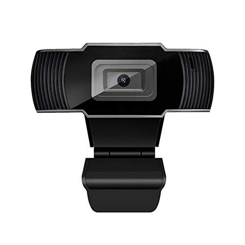 QinWenYan Cámara Web 1080P De Gran Angular HD Webcam 30fps Auto Enfoque Web Cámara Wiht Reducción De Ruido Mic USB Plug & Play para Conferencias y Videollamadas (Color : Black, Size : 1080P)