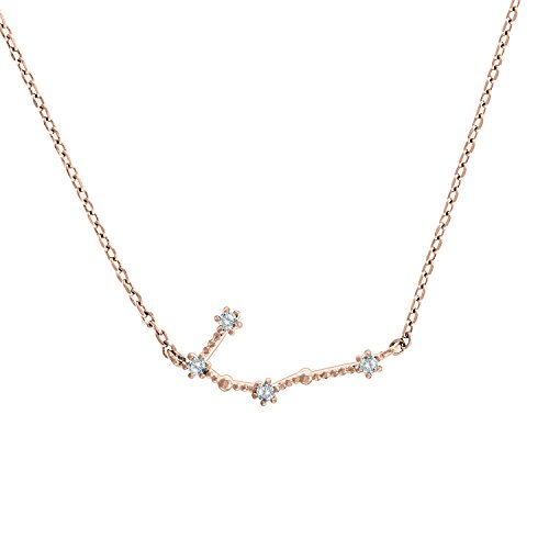 """PAVOI 14K Rose Gold Plated Astrology Constellation Horoscope Zodiac Necklace 16-18"""" - Gemini"""