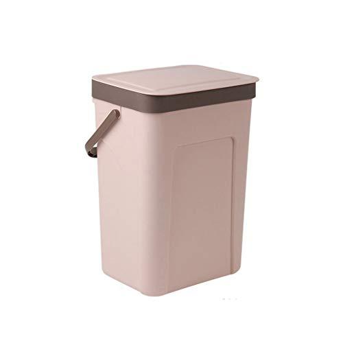WYWY Papelera Nordic Simple plástico Cubo de Basura con Tapa Papelera de Pared Cubo de Basura Cubo de Basura higiénico Compartimiento de Polvo casero del almacenaje Cubo Cubo de Basura
