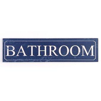 Madera con mensaje en la parte superior de la marca de baño