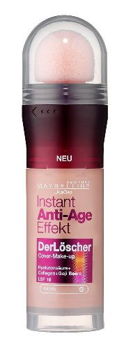 Maybelline New York Instant Anti-Age Effekt Der Löscher Make-Up Fawn 40 / Schminke in natürlichem Braun, Make Up gegen Hautunebenheiten & Falten, inkl. Mikro-Lösch-Applikator, 1 x 20 ml