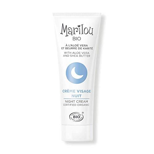 Marilou Bio - Gamme Classic - Soins pour le Visage - Crème Visage de Nuit - Tube de 30 ml - De Doux Rêves... pour Votre Peau !