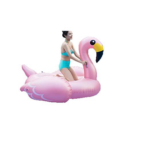 CSDY-Flotador Inflable Flamenco Gigante Swim Flotador Inflable Animal para Piscina O Playa...