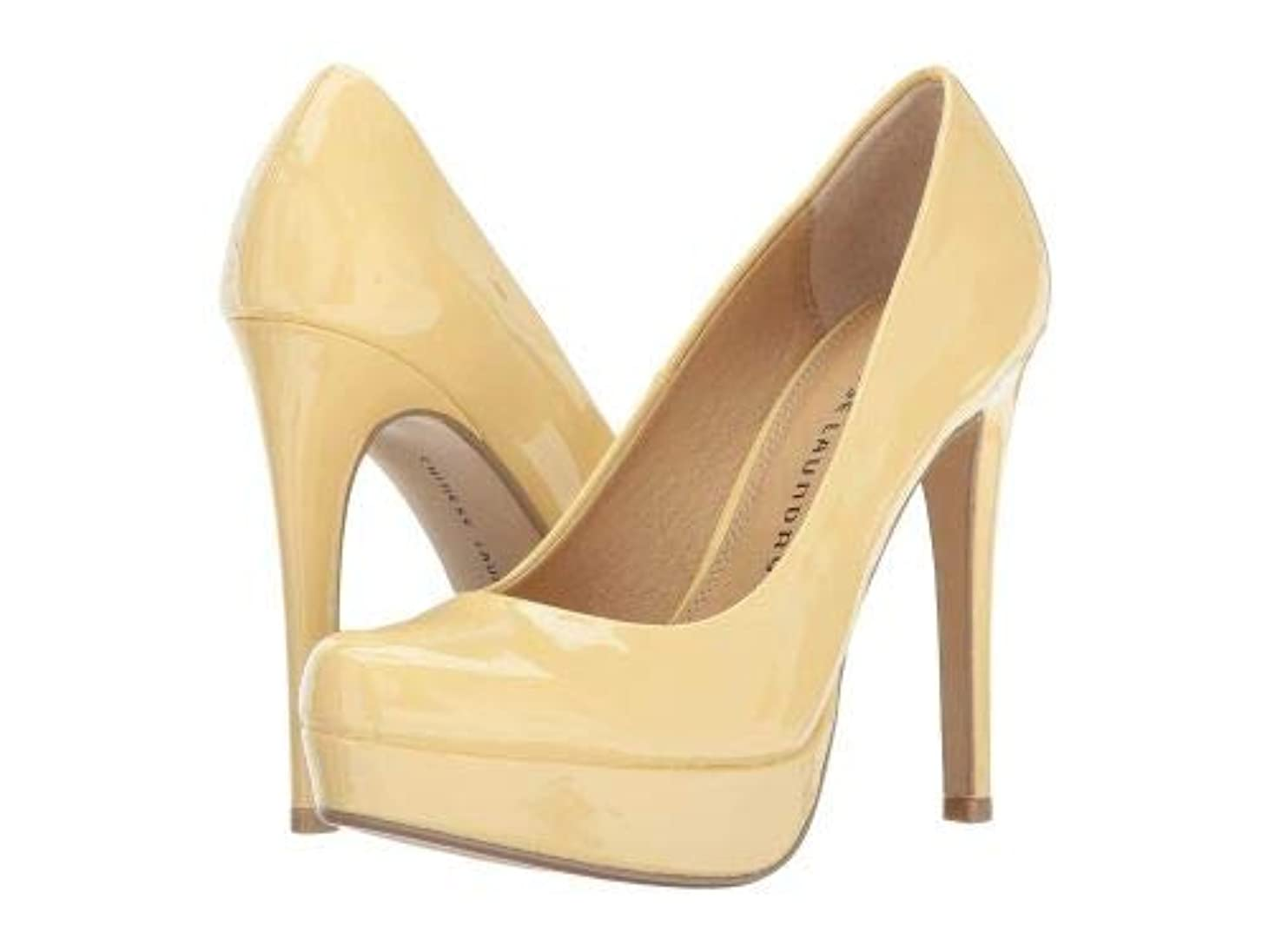 遺跡書き出す定期的にChinese Laundry(チャイニーズランドリー) レディース 女性用 シューズ 靴 ヒール Wendy Pump - Soft Yellow Patent [並行輸入品]