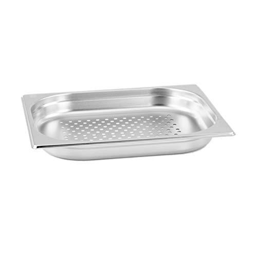 GN Behälter Gastronorm 1/2 40 mm gelocht/perforiert aus Edelstahl GVK ECO