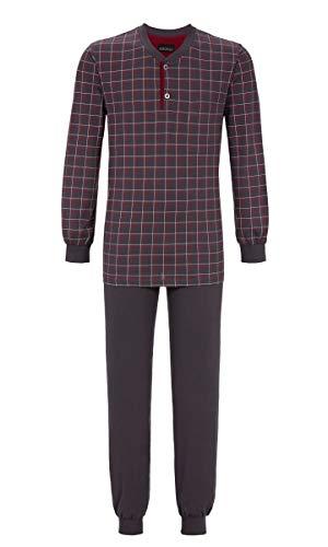 Ringella Herren Pyjama mit Strickbündchen Iron 56 9541221, Iron, 56