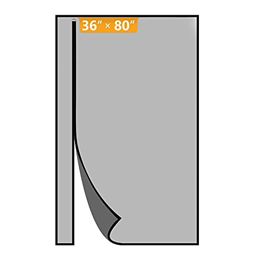 Yotache Left Right Side Opening Screen Doors with Magnets Fits Door Size 36 x 80, Reinforced Sewing Magnetic Insect Fly Mesh