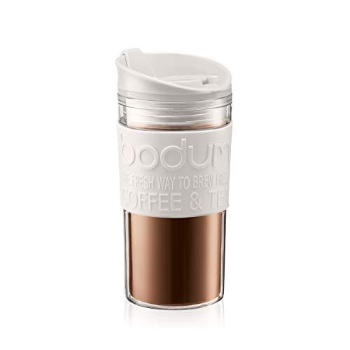 Bodum 11103-913 Travel mug, 0.35 L Reisebecher Kunststoff 8 x 8 x 17 cm, weiß
