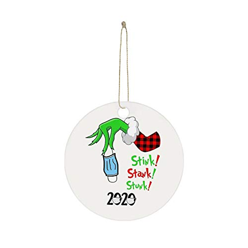 2020 Stink Stank Stunk Christmas Ornaments, Unique Christmas Hanging Ornament for Christmas Tree Decorations, Christmas Decorating Set Creative Friends Gift for Family Friends (1PC, B)
