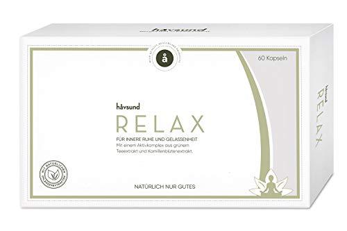 håvsund Relax - Nahrungsergänzung gegen Stress - mit Kamillenblütenextrakt und grünem Teeextrakt