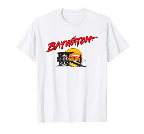 Baywatch Classic Tower Logo T-Shirt, White for Men, Women, Kids