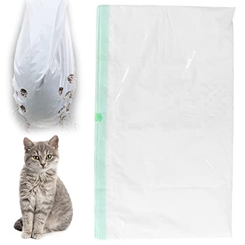 Ong Bolsa de Basura, revestimientos plásticos de la Caja de Arena 7pcs convenientes para Cambiar la Arena para Gatos(L)