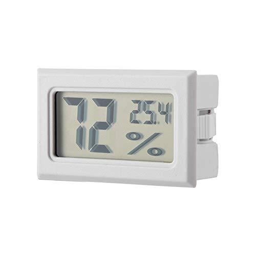 Ponacat Minithermometer Hygrometer schwarz Eingebauter digitaler Temperatur-Feuchtemesser Temperatur-Feuchtemesser mit eingebauter Sonde für Brutapparate Brutapparate Reptilienbehälter