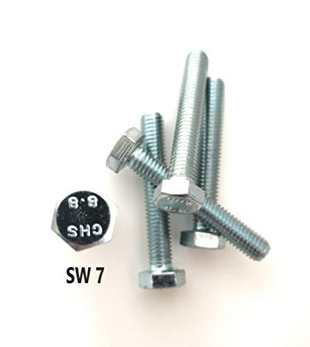DIN 933 / ISO 4017 – Förch – Hexagonal Screw Full Thread Quality 8.8 Galvanised Steel Hardened – German Brand Manufacturer – 6 Carat 8.8 VZ (M6 x 60 (Pack of 50)