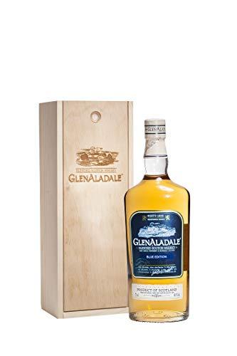 GlenAladale Scotch Whisky aus Malt Angebote Schottischer Whiskey Old 3 Jahre Geschenkset Holzkiste Edel Box Rare Eichbaum 3 Jahre Alt Limitierte Top 40% vol 0,7 L Herren Whisky LUX Blue