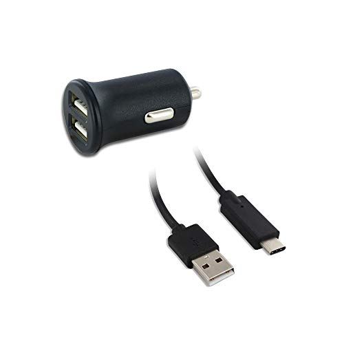 MOOOV 730310 - Cargador de Coche (1 USB y Cable USB-A/USB-C