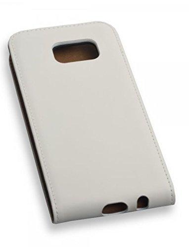 Funda Flip Case Funda Color Blanco para Samsung Galaxy S7–Funda Cover Carcasa Color Blanco