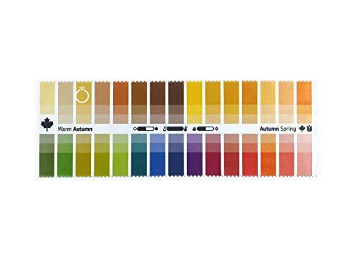Stoff-Farbpass Herbst-Frühling (Warm Autumn) mit 30 typgerechten Farben zur Farbanalyse, Farbberatung, Stilberatung