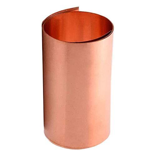 JKGHK Feuille Cuivre Pur Ruban de cuivre Plaque de cuivre Plaque métallique en cuivre Pur, utilisée pour Les Bijoux, Le soudage 300mm x 500mm,0.3mm x 300mm x 500mm