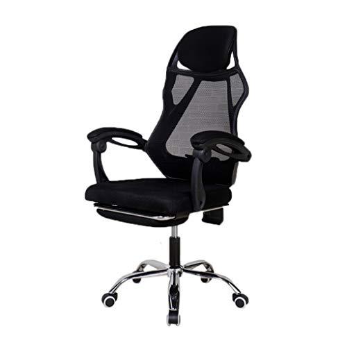 AOYANQI-Schreibtischstühle Computerspiel-Stuhl, Netz-atmungsaktiver Stuhl-Abnutzungsbeständiger einfach, Stuhl zu reinigen Computertisch und Stuhl-Hotel-Stuhl-Hauptstuhl Büromöbel ( Color : Black 1 )
