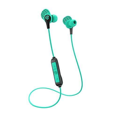 JLab JBuds de audio pro Bluetooth inalámbrico auriculares-controladores de titanio 10mm 6horas de duración de la batería Bluetooth 4.1Extra Gel Tips y Cush aletas
