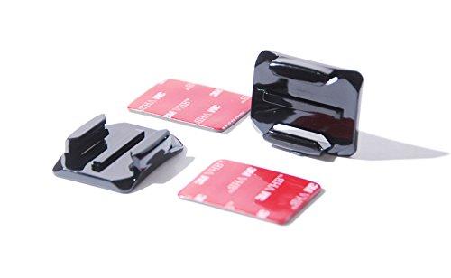 PROtastic® 2X curvable pegajosas monturas y 3M Almohadillas para GoPro y SJCAM cámara Casco (2 Unidades) montajes