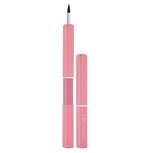 ARTIFUN Flexibler Teleskopischer Lippenpinsel Helle Farbe Tragbare Lippenstiftpinsel...