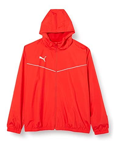 PUMA Herren Trainingsjacke teamRISE All Weather Jacket, Puma Red-Puma White, L, 657396