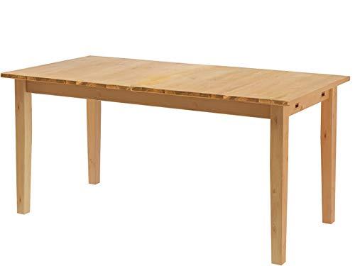 Loft24 Esstisch Kiefer Massivholz Esszimmertisch ausziehbar rechteckig 120-160 cm Küchentisch Tisch für 4-6 Personen gebeizt geölt