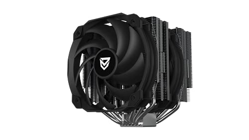 Nfortec Aegir X - Dissipatore ad aria per CPU ad alte prestazioni a doppia torre con ventola da 140 mm di cuscinetti idraulici e fino a 200 W di TDP max. (compatibile Intel e AMD)