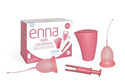 ENNA CYCLE Copa menstrual talla s 2 copas + aplicador + esterilizador