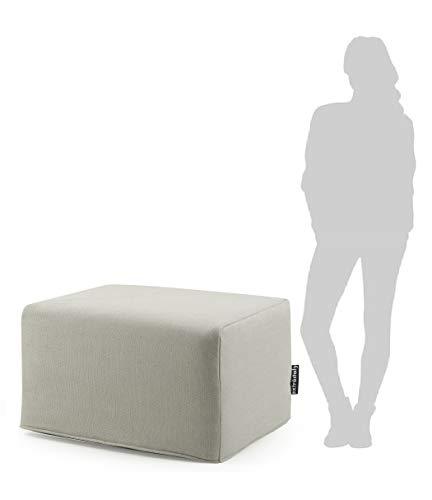 ExtroItaly Queen - Puf para cama individual, desenfundable, lavable, medidas cerradas, 82 x 42 x 62 cm (largo x ancho x alto)