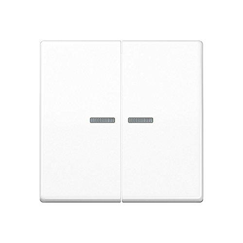 Jung ABAS 591-5 KO5 WW Wippe für Serienschalter und Doppeltaster mit Lichtleiter Serie AS antibakteriell alpinweiß