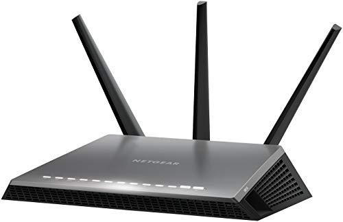 Netgear D7000-100PES Modem Router WiFi AC1900 Dual band Nighthawk, 4 Porte Gigabit Ethernet e 1 WAN, 2 porte USB, Nero (Verifica compatibilità con la tua linea)